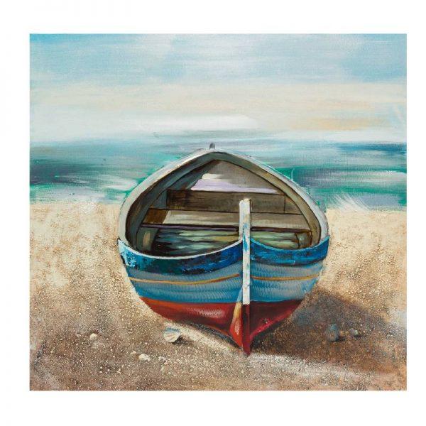 Картина лодка, 80*80 см