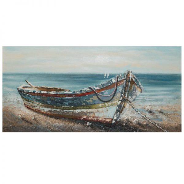 Картина - Лодка на брега, 60*120 см