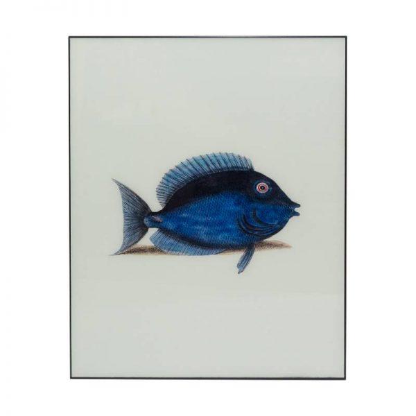 Картина стъкло, синя риба, 60*80 см