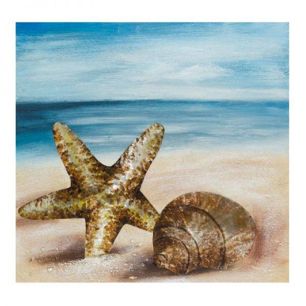 Картина - Морска звезда и рапан, 80*80 см