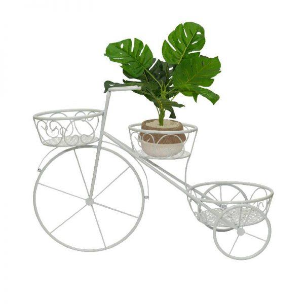 Метален цветарник колело, 66*26*46 см