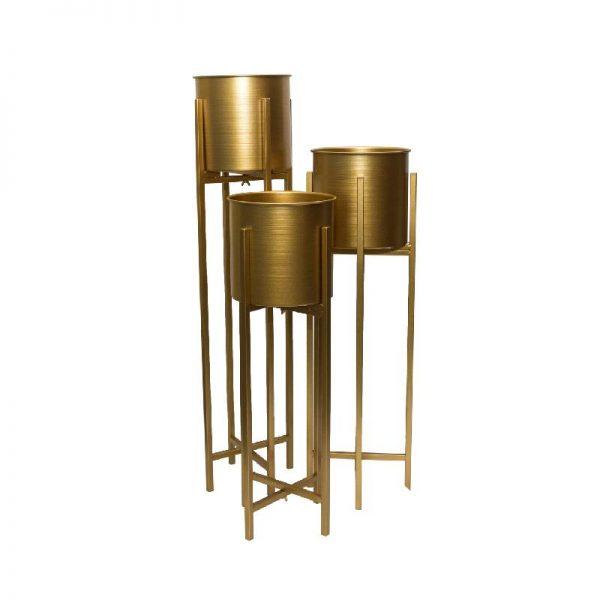 Метални кашпи на стойка, 3 размера