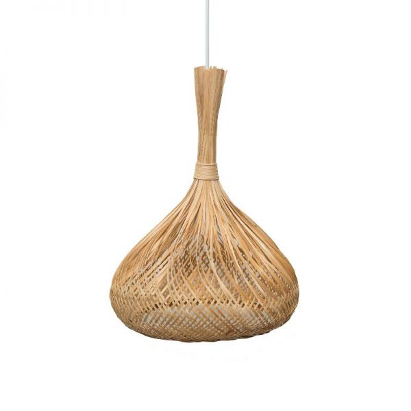 Полилей с абажур от бамбукова слама