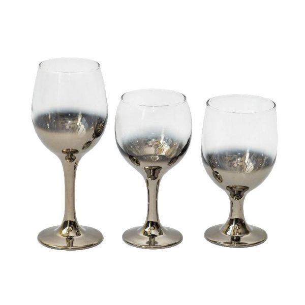 Стъклени чаши с омбре ефект, 3 вида