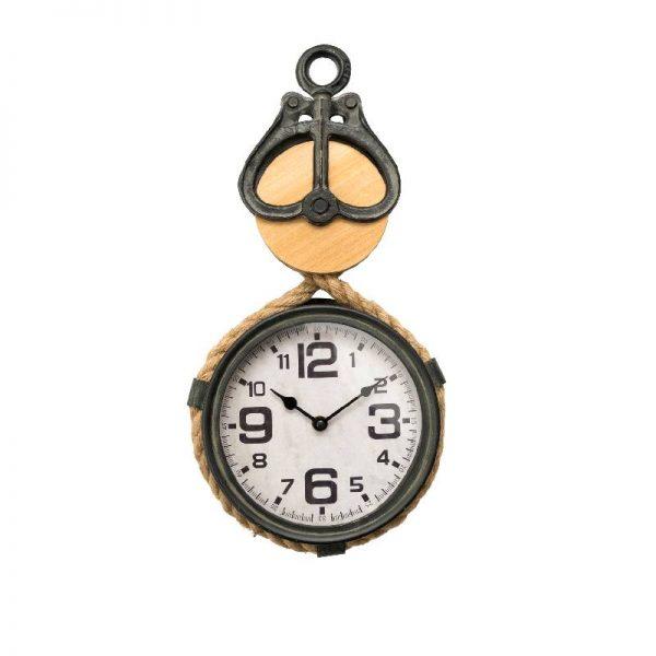 Стенен часовник - макара,  23*9*52 см