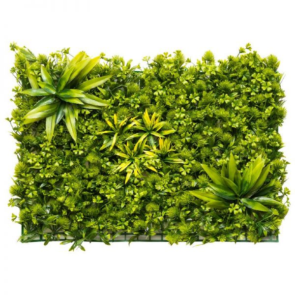Зелено пано с изкуствени растения, 60*40