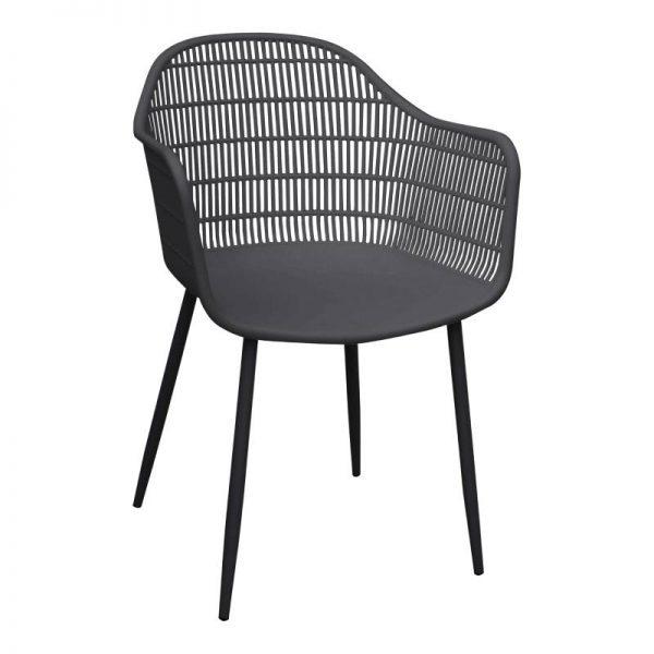 Градински стол, сив цвят