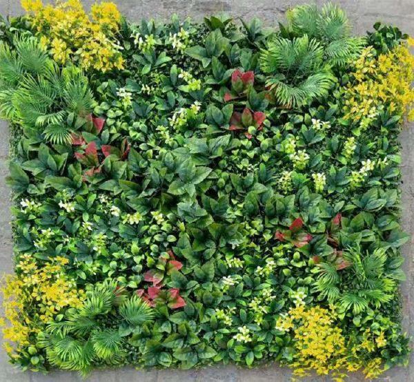 Зелено пано с тропически растения, 100*100см