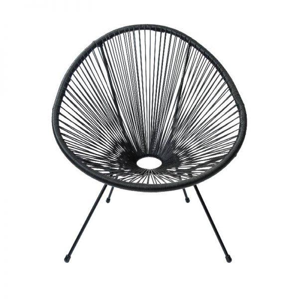 Градински стол в черен цвят, 74*88*80 см
