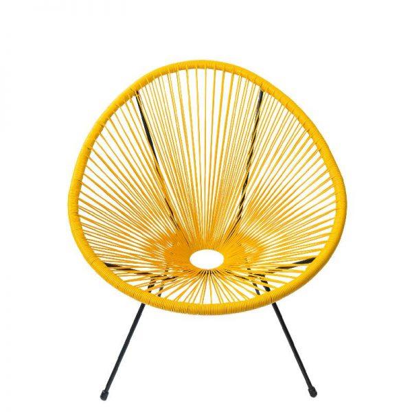 Градински стол в жълт цвят, 74*88*80 см