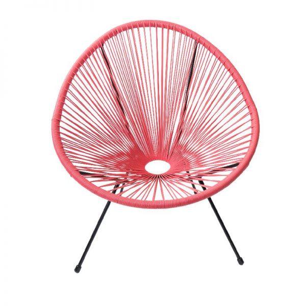 Градински стол в розов цвят, 74*88*80 см