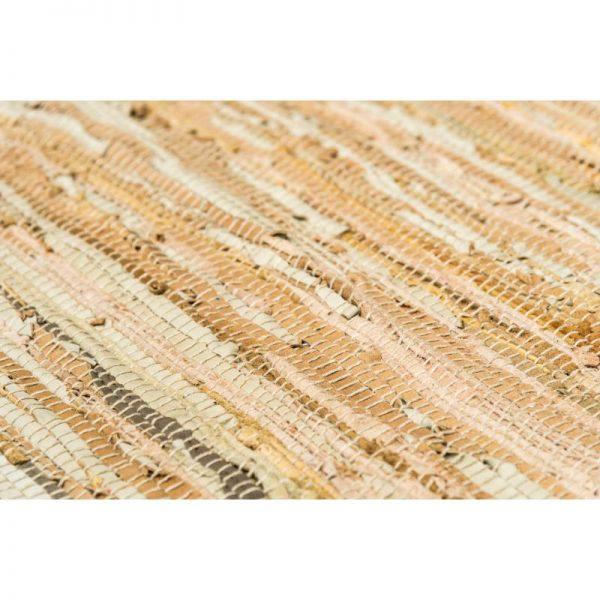 Килим тип черга с ресни - бежов цвят, 2 размера