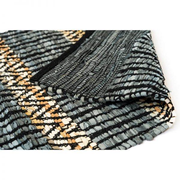 Килим тип черга - сиво с черно, 4 размера