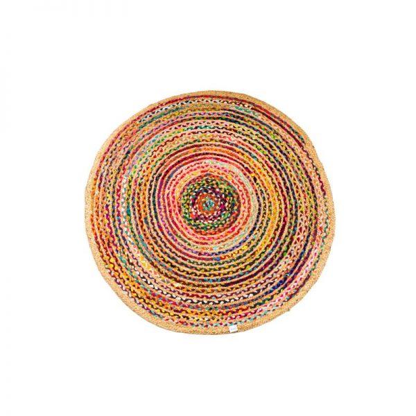 Кръгъл килим тип черга, 120*120см