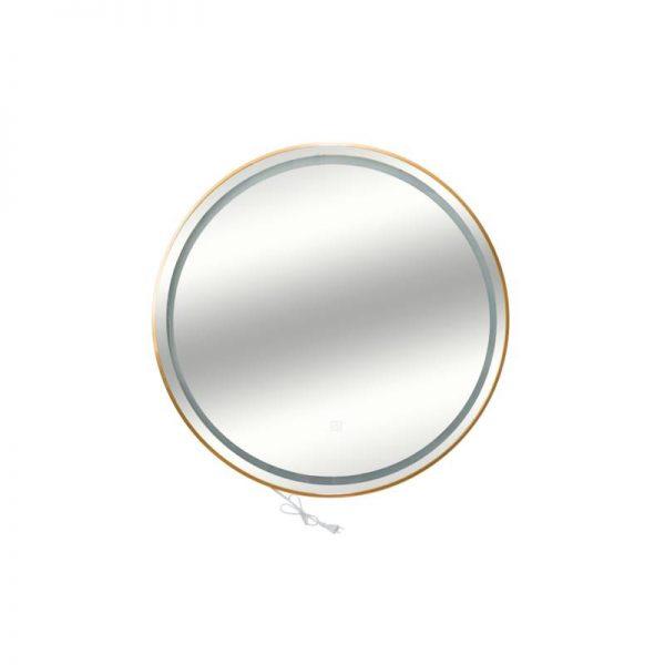 Огледало със златна рамка и LED осветление