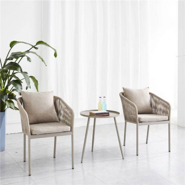 Трапезен плетен стол, 57*58*77см