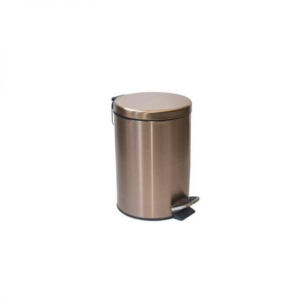 Луксозен кош за баня, златен, 8 литра