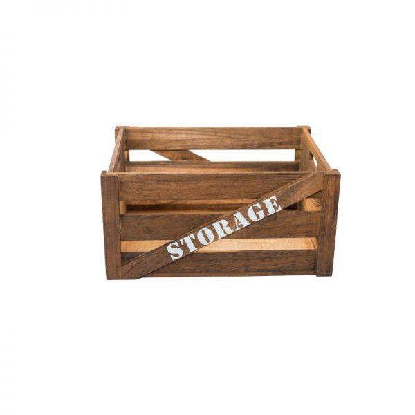 Дървен панер, тип щайга, 41*31*20 см