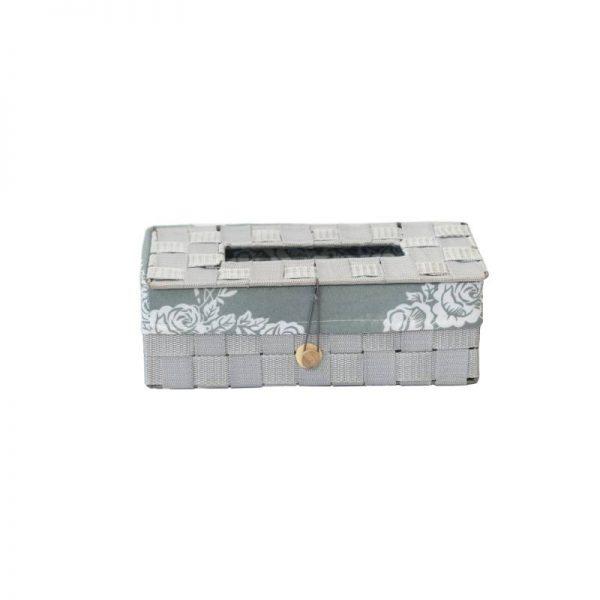 Кутия за салфетки в сив цвят, 26*14*9 см
