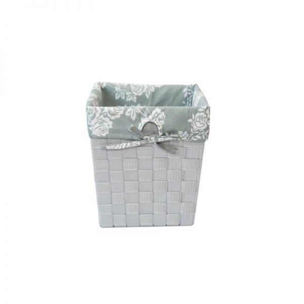 Плетен панер в сив цвят, 19*19*24 см