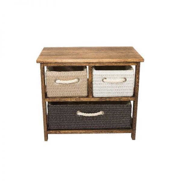 Шкафче в кафяв цвят с 3 чекмеджета, 50*30*42 см