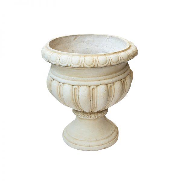 Антична каменна кашпа с орнаменти, 43*43*52см