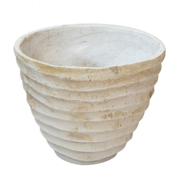 Антична каменна ваза релефна, 34*34*28см