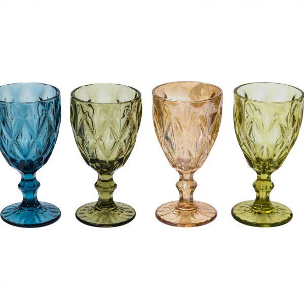 Дебелостенна релефна чаша, 4 цвята