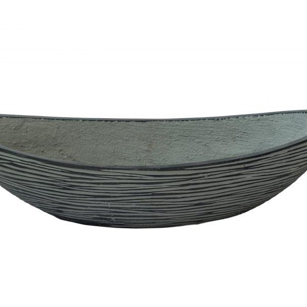 Кашпа тип лодка в сив цвят, 64*26*14см