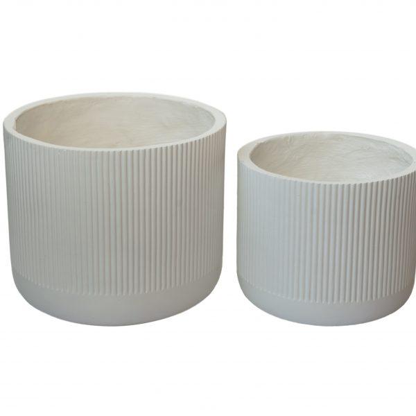 Кашпа в бял цвят, 2 размера
