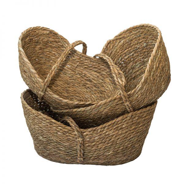 Плетена кошница с една дръжка, 3 размера