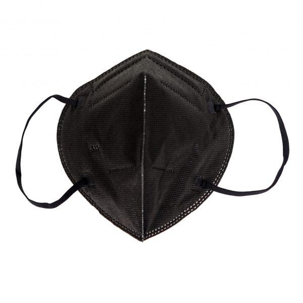 Предпазна маска KN95 без клапа, черен цвят