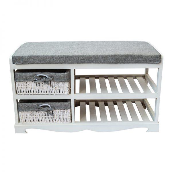 Шкаф - пейка за обувки в бял цвят, 80*34*45см
