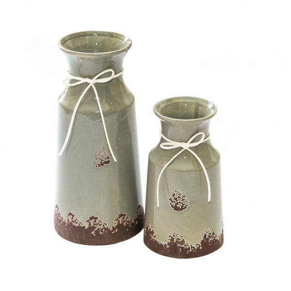 Керамична ваза в сив цвят, 2 размера