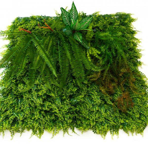 Зелено декоративно пано, модел 5018, 100*100см