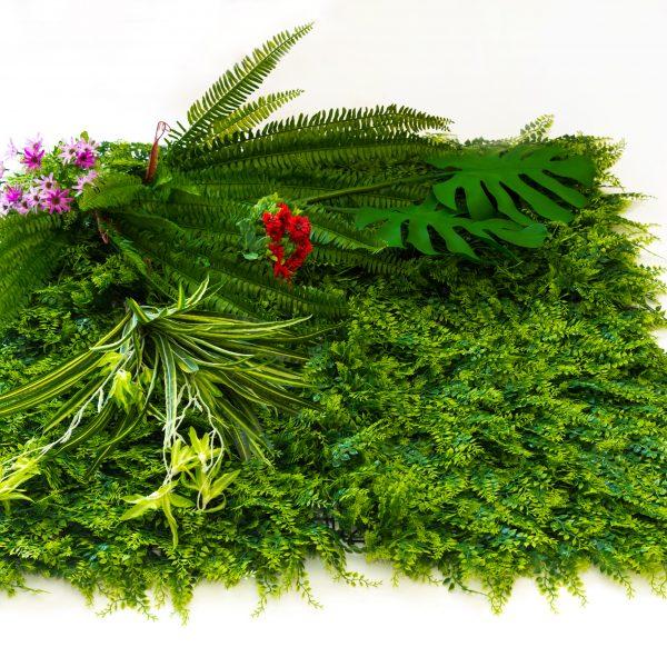 Зелено декоративно пано, модел 5016, 100*100см